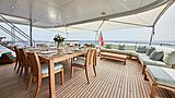 Gladiator yacht aft deck