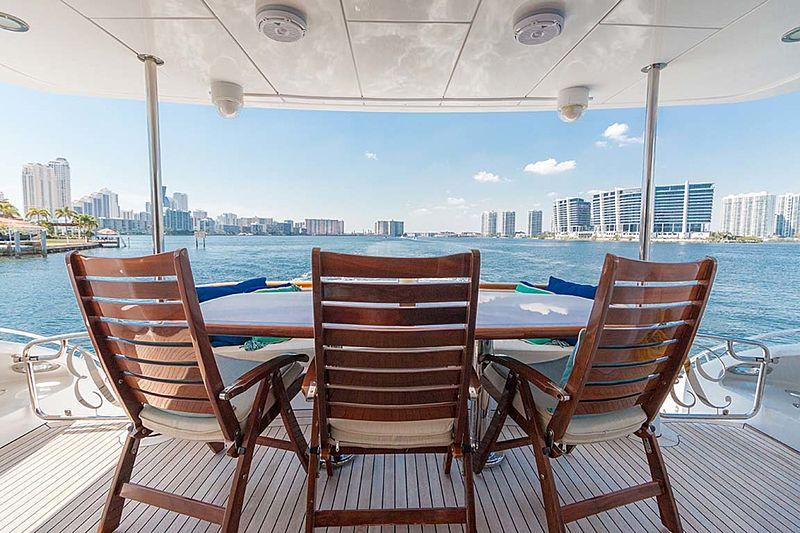 Pneuma yacht aft deck