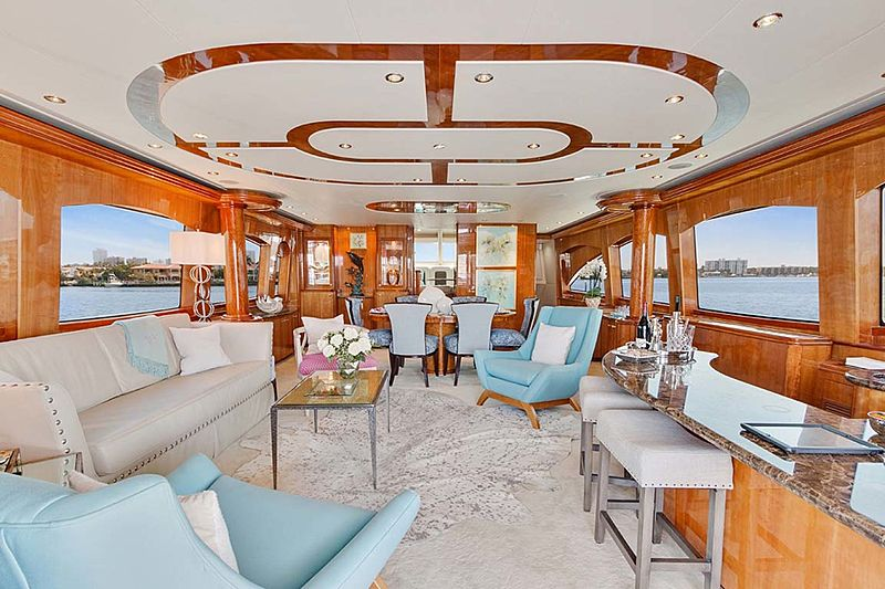 Pneuma yacht saloon