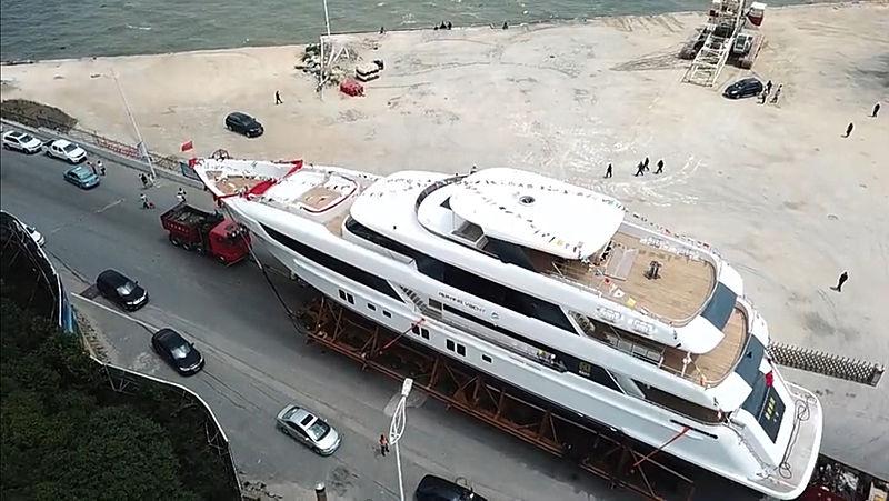 Ruiying Yacht JL46 launch in Dalian
