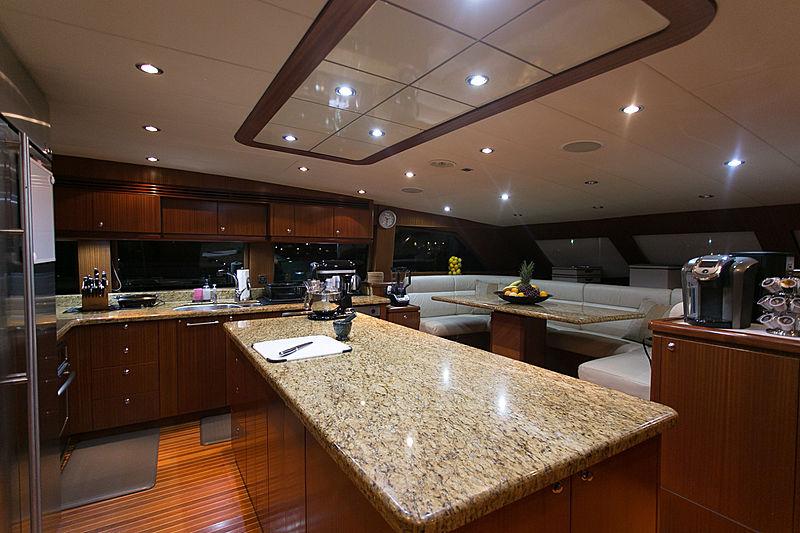 Beachfront yacht kitchen