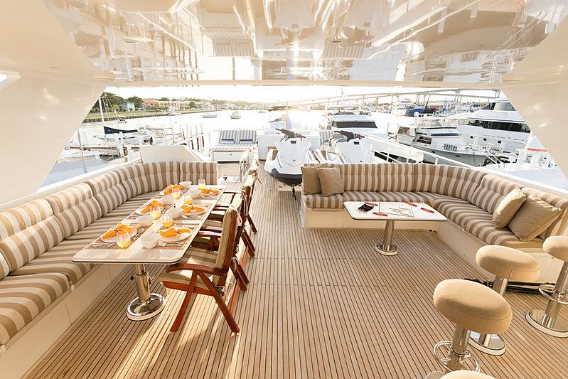 Beachfront yacht deck