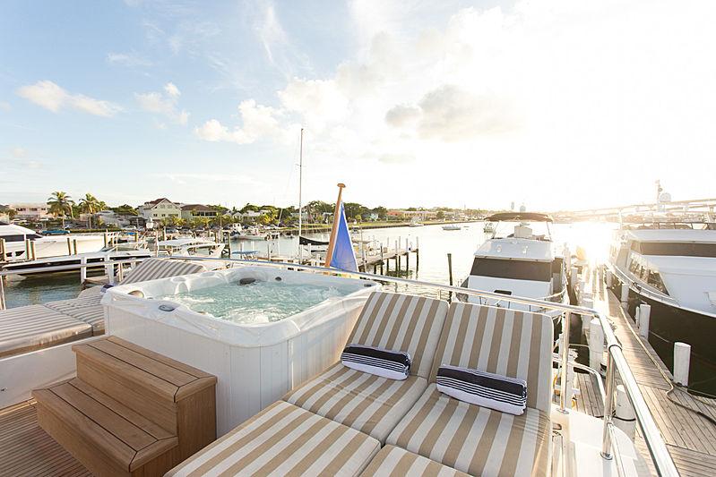 Beachfront yacht sun deck