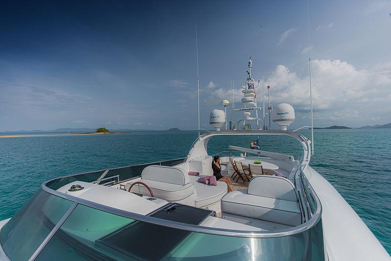 Aveline yacht top deck