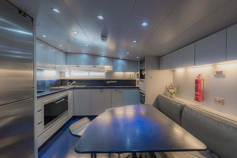 Aveline yacht kitchen