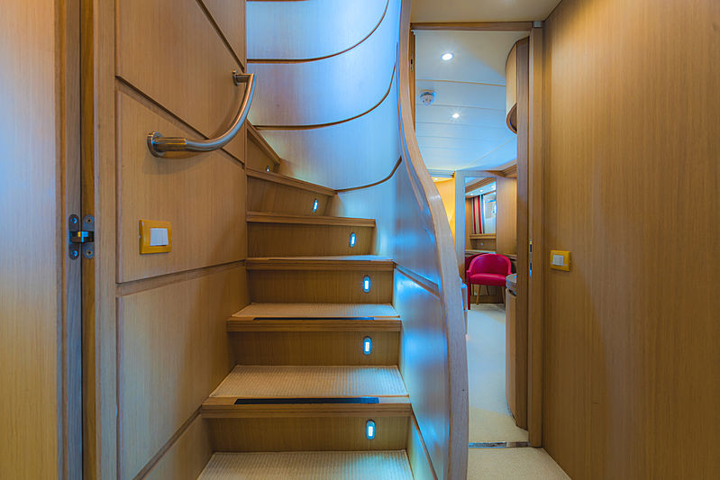 Aveline yacht staircase