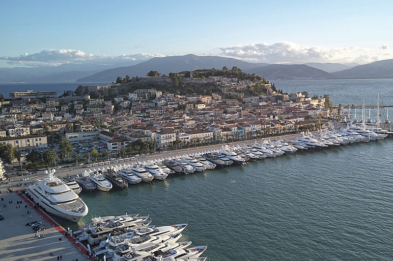 Yachts at the Mediterranean Yacht Show 2019
