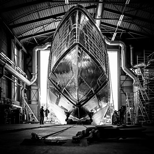 Feadship Project 706 under construction