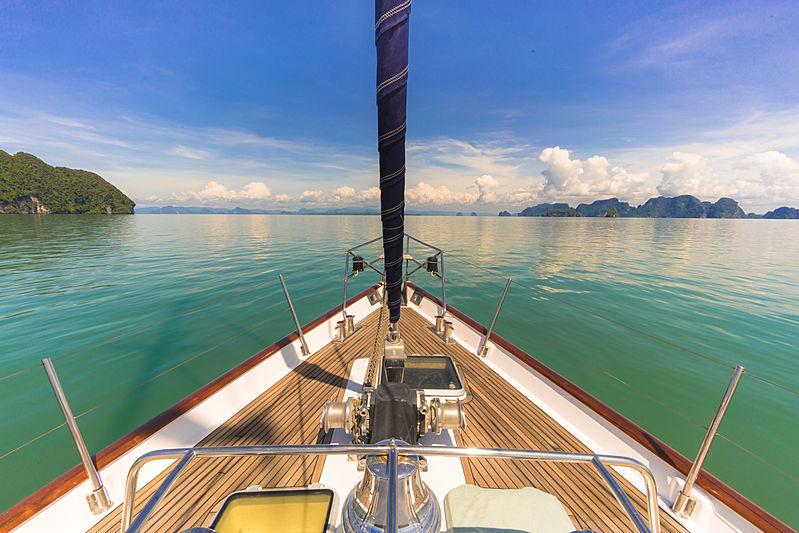 Taronga yacht bow
