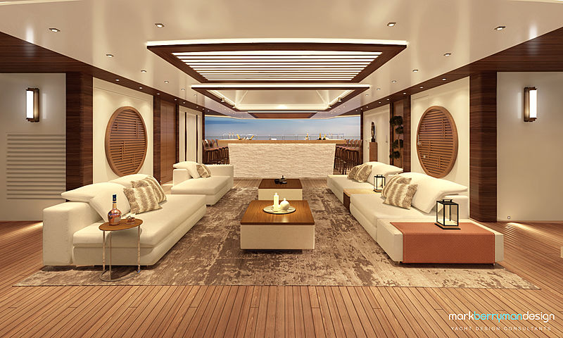 Life Saga yacht interior rendering