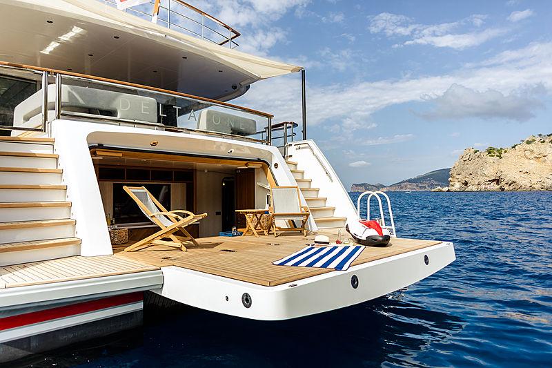 Yacht Delta One stern platform