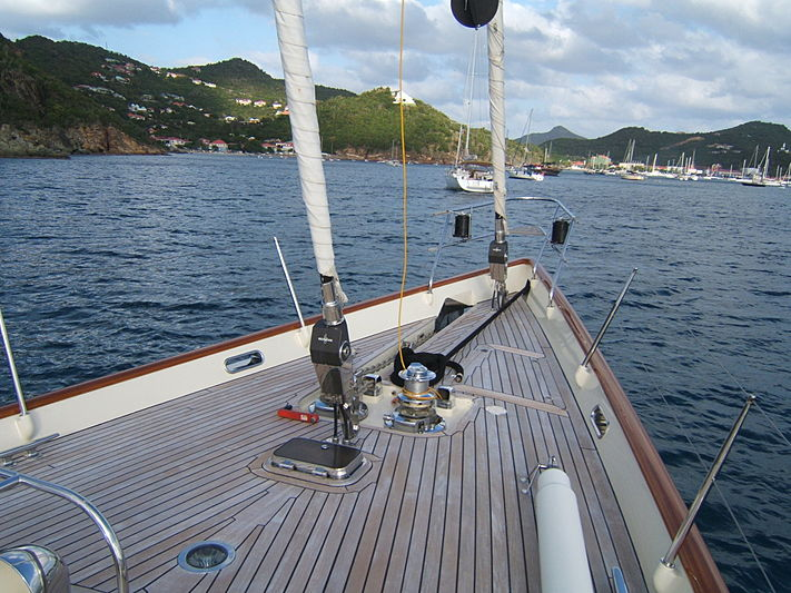 Carmella yacht bow