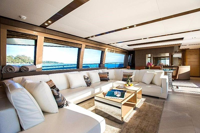 My Soo Too yacht saloon