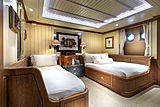 Scout II yacht aft port twin guest stateroom