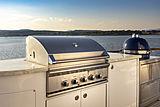 Scout II yacht sun deck BBQ