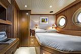 Scout II yacht captain's cabin