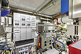 Scout II yacht engine room