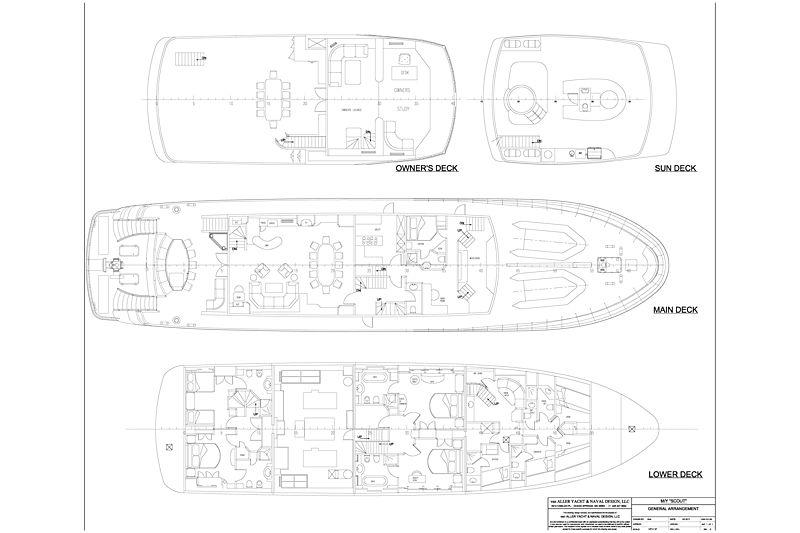Photo  Scout Ii Yacht General Arrangement Plan