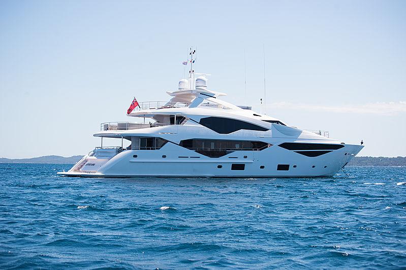 E-Motion yacht at anchor