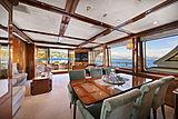 Farfallina yacht saloon