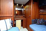 Halcyon Days yacht twin cabin