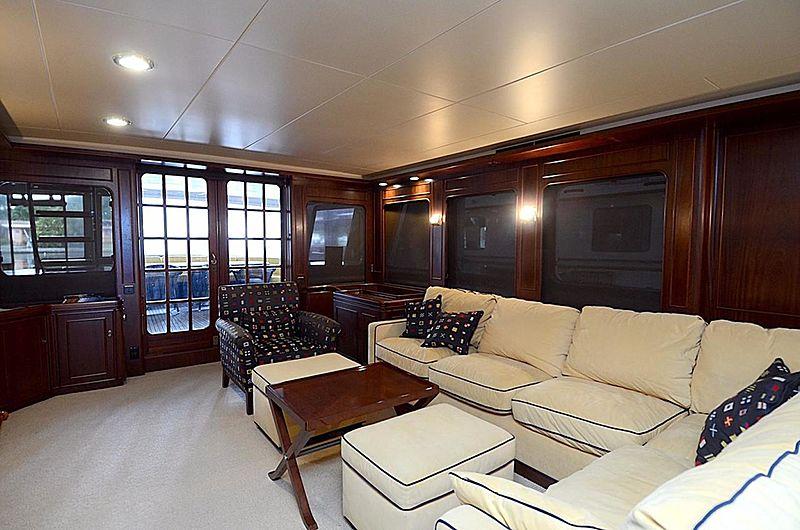 Halcyon Days yacht saloon