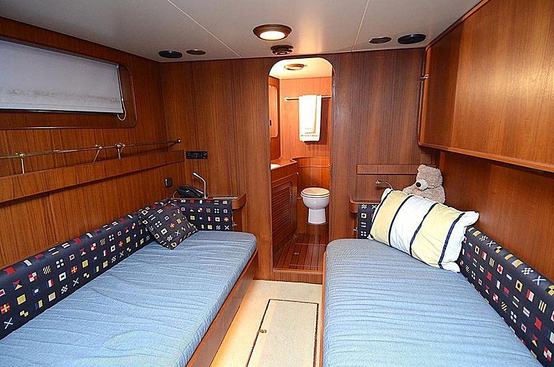 Halcyon Days yacht twin cabin