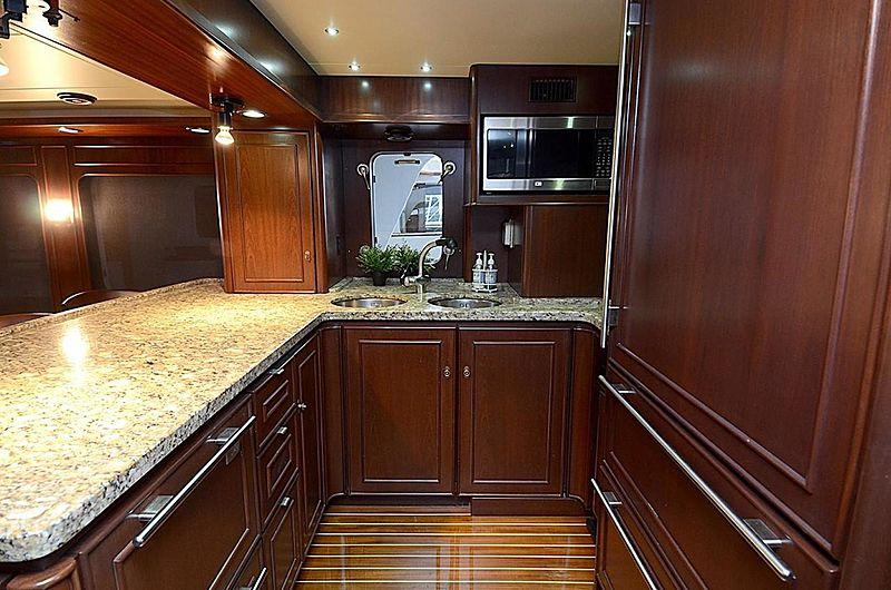 Halcyon Days yacht kitchen