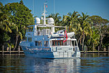 Coy Koi yacht anchored