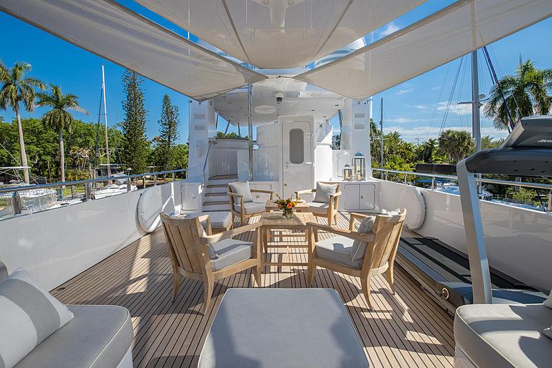 Coy Koi yacht deck