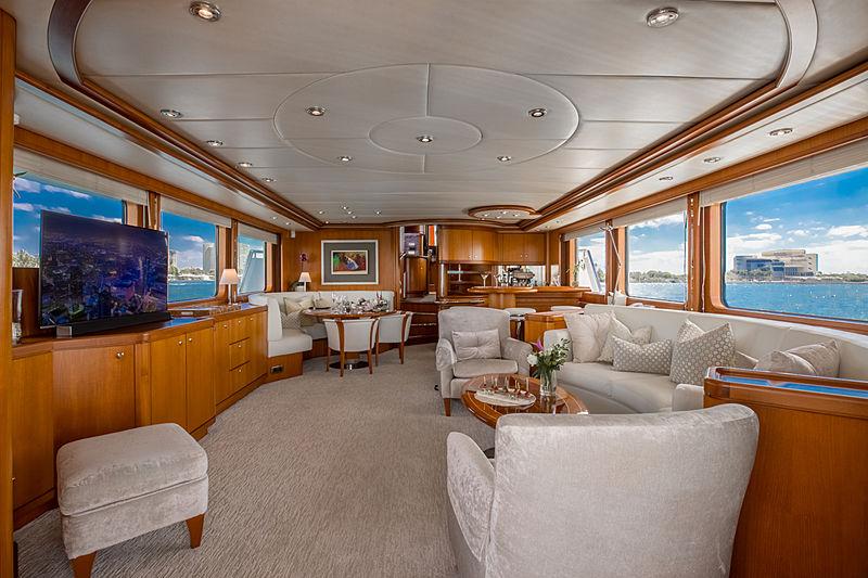 Coy Koi yacht saloon