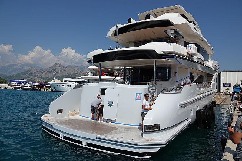 Kando yacht launch at AvA Yachts in Antalya