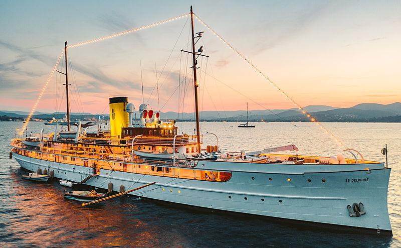 SS Delphine classic yacht in St Tropez