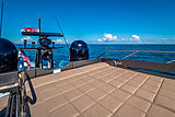 Milagro's yacht top deck