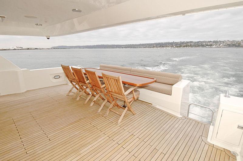 Lady O yacht deck