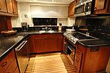 Lady O yacht kitchen