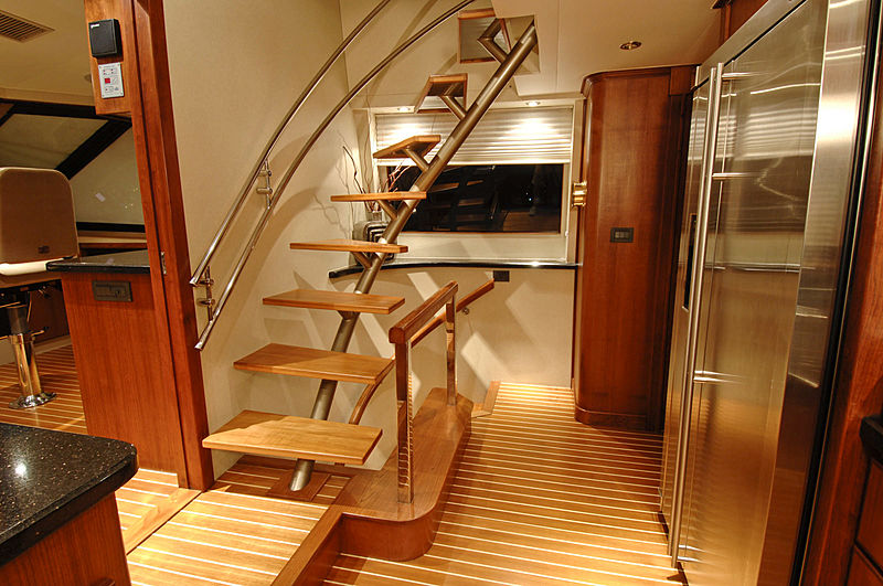 Lady O yacht staircase
