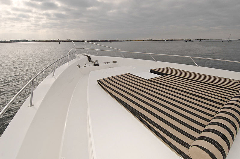 Lady O yacht fore deck