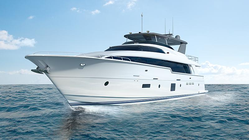Hatteras 105RPH yacht exterior design
