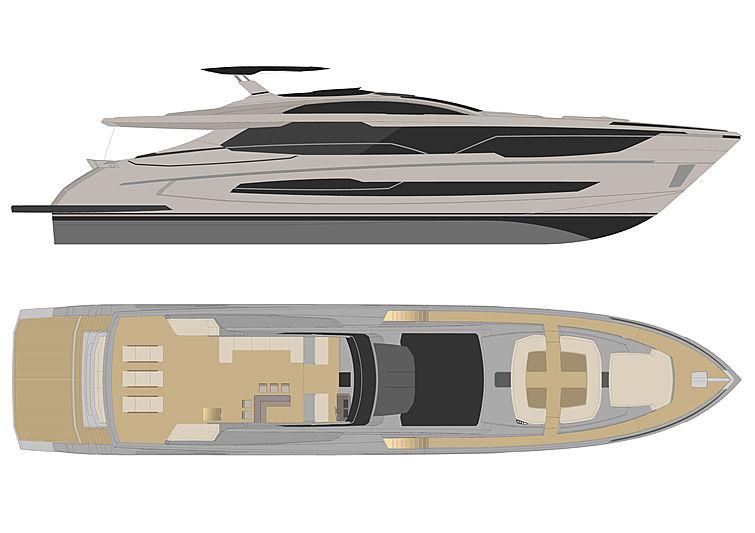 Sedna 100 yacht rendering