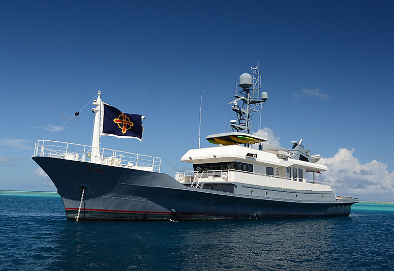 Dr. No yacht anchored