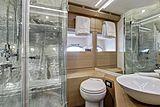 Milagro's yacht bathroom