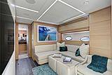 Milagro's yacht lounge