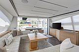 Milagro's yacht saloon
