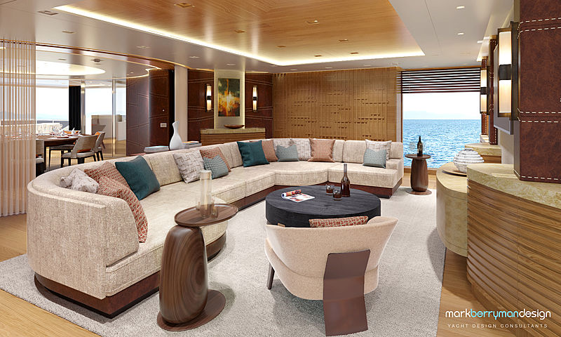 Admiral Life Saga yacht interior design