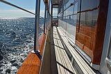 Aurore yacht side deck