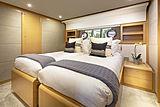 La Pace yacht twin cabin