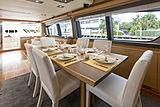 La Pace yacht dining