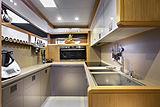 La Pace yacht kitchen