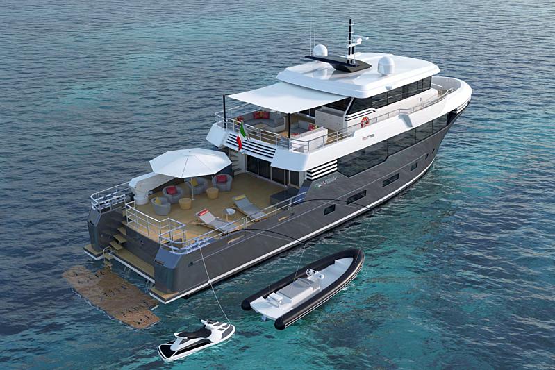 Italian Vessels  Enjoy 93.3 yacht renderings